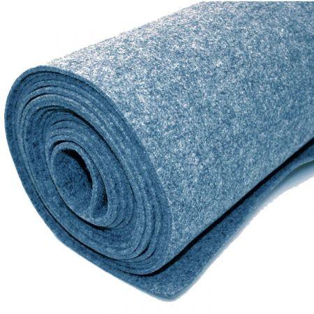 Teppich-Filz - Blau - 200 x 500 cm